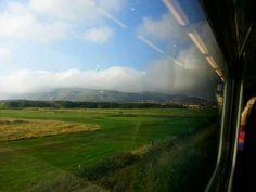 as we near Llandudno on a train