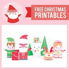 Our Free Christmas Printables are inspired by this year's collection of Christmas products from Stuck on You. Just print, cut, fold & tape and play!