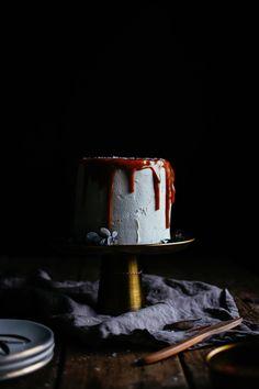 salted caramel drippy cake