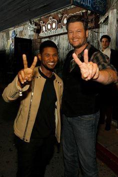 Blake Shelton and Usher.
