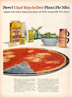 1956 Chef-Boy-Ar-Dee Pizza Original Food and Drink Print Ad