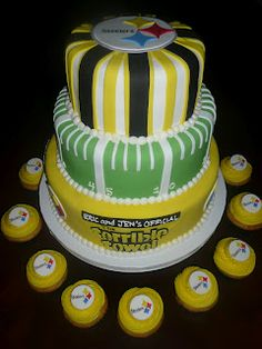 Pittsburgh Steelers Cake and Cupcakes