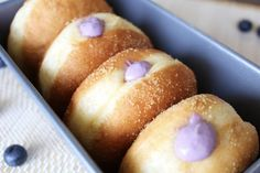 Blueberry Cream Cheese Doughnuts