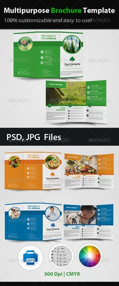 Multipurpose Brochure Template - Brochures Print Templates