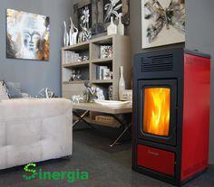 Descubre a nuestra estufa de biomasa Sinergia modelo MAR 13 KW de pellets