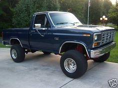 Image result for lifted 1982 ford truck F150 navy blue
