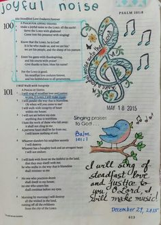 Psalm - by Paula Kay Bourland Bible Journaling For Beginners, Bible Study Journal, Scripture Study, Bible Art, Scripture Doodle, Scripture Journal, Journal Art, Bible Prayers, Bible Scriptures