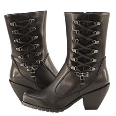 Just purchased! Xelement Women's Lace and Lock Leather Biker Boots  Finally - style, fit, and real function for the road.