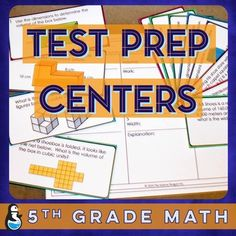 5th Grade Math Test Prep-- fun centers! $
