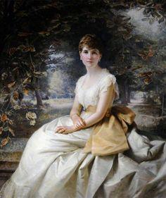 Florence Jane Helen Wellesley (1853–1932), Lady Nunburnholme, OBE by Edward Hughes (1887)