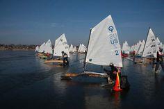 Optimist Ice Sailing Race