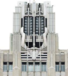 precioso edificio Art Deco - Niagara Mohawk Building, Syracuse, Nueva York, USA