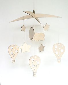 Fly high wooden mobile nursery