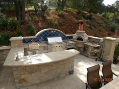 Outdoor Kitchen Designs Featuring Pizza Ovens, Fireplaces And Other Cool  Accessories **Ideal Patio!