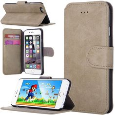 Amazon.com: iPhone 6 Plus Case (5.5 inch), ULAK®[Stand Feature] iPhone 6 Plus (5.5) Case Synthetic Leather [Wallet] Unique Waves Premium Wallet Case STAND Flip Cover for iPhone 6 Plus (5.5) (2014) (Follow the sky): Cell Phones & Accessories