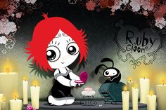 """Ruby Gloom goth kid's cartoon. Ruby Gloom has been aptly described as """"Strawberry Shortcake meets Nightmare Before Christmas."""" It's produced in Canada.  Ruby Gloom is on Netflix Streaming and on DVD."""