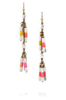 Isabel Marant Howlite beaded earrings    $165.00