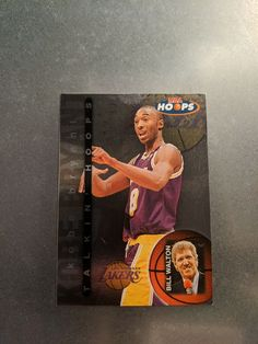 Rare: 1997 97 Skybox NBA Hoops Kobe Bryant Rookie RC Talkin' Hoops #15, Lakers Nba Sports, Kobe Bryant, Trading Cards, Eagles, Badge, Baseball Cards, Eagle, Badges, The Eagles