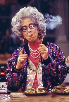 Ann Morgan Guilbert as Yetta in The Nanny.