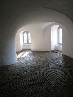 The spiral ramp in the Round Tower (Rundetaarn), Copenhagen (1637-42)
