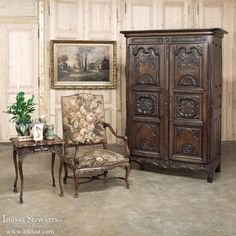 Country French Armoires | 18th Century Country French Armoire from Loire Valley | www.inessa.com #antiques