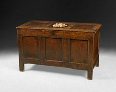 Queen Anne period Oak 3-panel coffer. Have you got just the right spot for this?