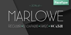 Marlowe (30% discount, from 14,70 €) - http://fontsdiscounts.com/marlowe-30-discount-21-00/