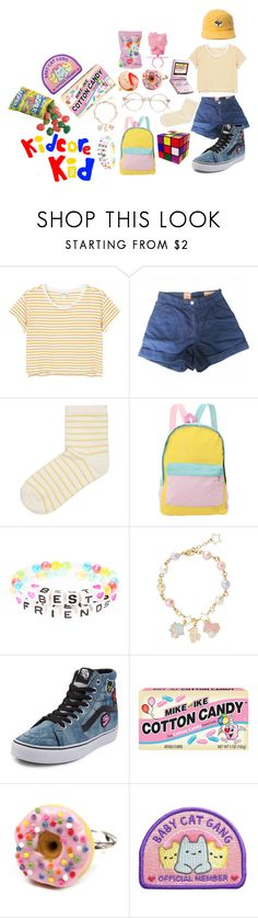 """My style: Kidcore"" by spookyphantump ❤ liked on Polyvore featuring Monki, Levi's Made & Crafted, SELECTED, Retrò, Nintendo and Vans"