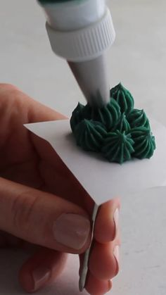 How to Pipe buttercream succulents - Buttercream Flowers - Kuchen Cake Decorating Piping, Cake Decorating Videos, Cake Decorating Techniques, Cookie Decorating, Piping Buttercream, Buttercream Flowers, Buttercream Designs, Icing Flowers, Frosting Tips