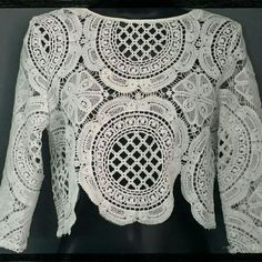 New White Lace Crop Top Glamorous & Fashion Tops Crop Tops