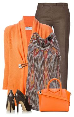 """Orange"" by daiscat ❤ liked on Polyvore featuring True Royal, Fedeli, ALLDRESSEDUP, MICHAEL Michael Kors and Givenchy"
