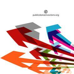 Colorful arrows vector. More Free Vector Graphics, www.123freevectors.com