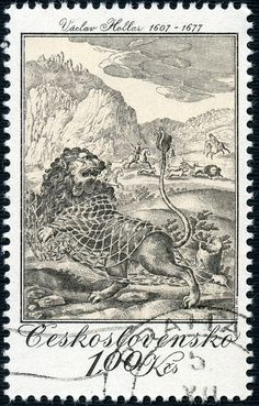 Issued 2-26-1975 Czechoslovak Graphic Art - Engraved Hunting Scene by Vaclav Hollar.  Perfs: 11½ x 11¼.