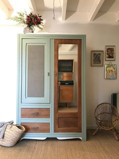 Trendy Vintage Home Furniture Cupboards 29 Ideas Diy Furniture Renovation, Diy Home Furniture, Wardrobe Furniture, Handmade Furniture, Upcycled Furniture, Furniture Makeover, Vintage Furniture, Cool Furniture, Painted Furniture