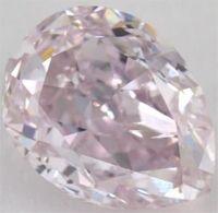 #Jewelry #Diamonds 0.75 Carat fancy light purple pink-SI2 Pear Shape Diamond