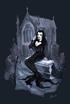 Morticia Addams by IrenHorrors.deviantart.com on @deviantART