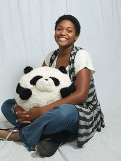 One of Squishable fan Kaggie K's senior pictures! Also featuring the adorable Po the Panda! #squishable #plush #fashion