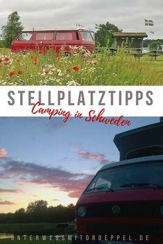 Auf unseren #Reisen mit dem #Bulli durch #Schweden haben wir den einen oder anderen #Campingplatz und #Stellplatz ausprobiert. Unsere ganz persönlichen #Stellplatztipps. #camping #roadtrip #wildcamping