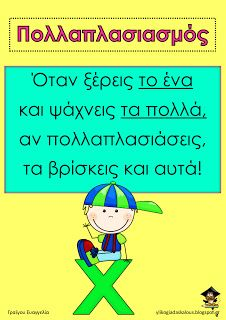 Teachers Aid: Πότε κάνουμε πολλαπλασιασμό Preschool Education, Teaching Math, Maths, School Hacks, School Projects, Teaching Methods, School Pictures, Math For Kids, Too Cool For School