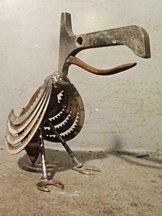 Toucan - Folk Art Junk Art Weld Art Metal Sculpture