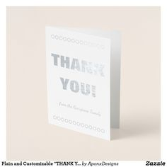 """Shop Plain and Customizable """"THANK YOU!"""" Card created by AponxDesigns. Paper Envelopes, White Envelopes, Thank You Greeting Cards, Colored Paper, Place Card Holders, Crafts, Appreciation Cards, Manualidades, Handmade Crafts"""