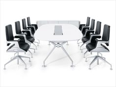 Bürostühle Silver am Tisch