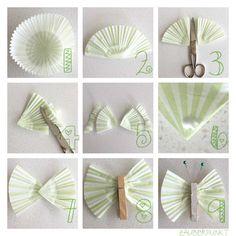 Schmetterling, DIY, Osterbaum, Frühling, Selbstgemacht, Mini, Pastell, Tutorial