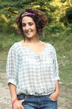 cosa indossare nel tempo libero, blusa a quadri, checked blouse,, silk chiffon plaid blouse