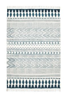 Block Printed Rug  - French Connection