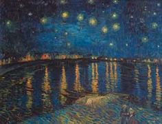 """""""Starlight Over the Rhone"""" - Vincent Van Gogh posters and prints available at Barewalls.com"""
