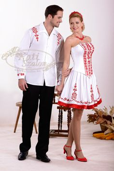 Fehérben, magyarosan In white, hungarian style Hungarian Embroidery, Special Occasion Outfits, Folk Dance, Hungary, Fashion Art, Wedding Styles, Peplum Dress, Wedding Dresses, Celebrities