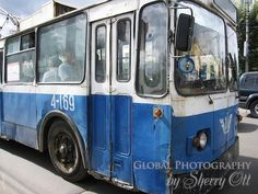 Old buses can barely move in the congested city