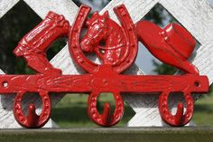 Cast Iron Cowboy Key Rack / Hook / Western Decor by 2CountryChics, $17.00