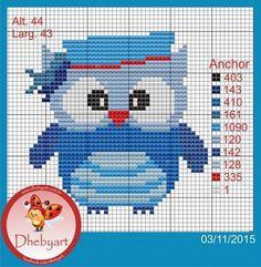 Cross Stitch Owl, Cross Stitch House, Simple Cross Stitch, Cross Stitch Animals, Cross Stitching, Cross Stitch Embroidery, Cross Stitch Patterns, Owl Patterns, Perler Patterns